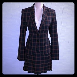 QMack Plaid Wrap Skirt & Blazer